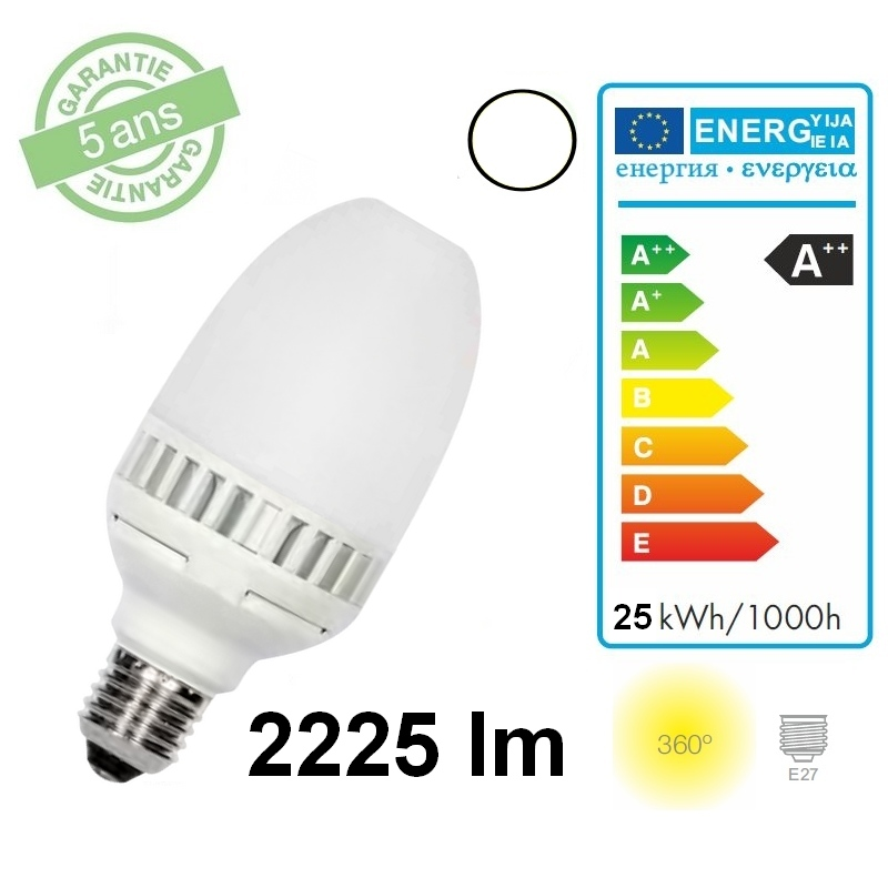 Lampe led 25 w e27 2225 lm 4000 k for Lampe 4000 kelvin
