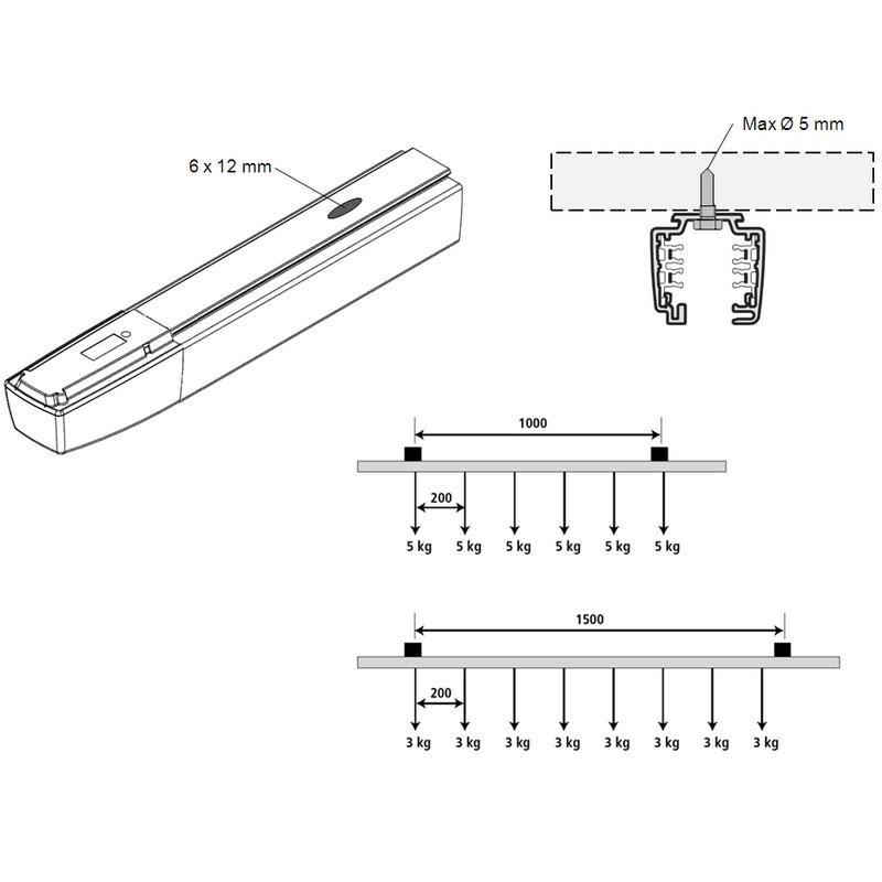 c3 rail 3 allumages pour projecteurs quip s d 39 adaptateur. Black Bedroom Furniture Sets. Home Design Ideas