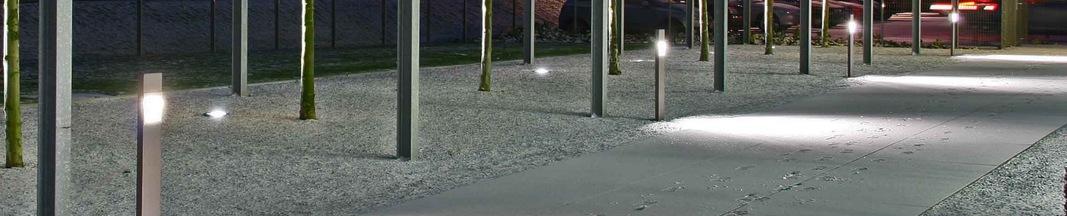Eclairage architectural et urbain par des bornes exterieur