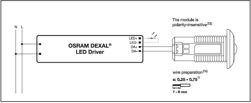 Cablage du convertisseur avec driver DEXAL d'OSRAM