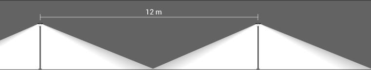 interdistance entre 2 bornes 20W sur poteaux 1875mm