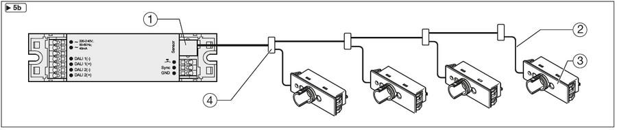 Cablage de plusieurs détecteurs