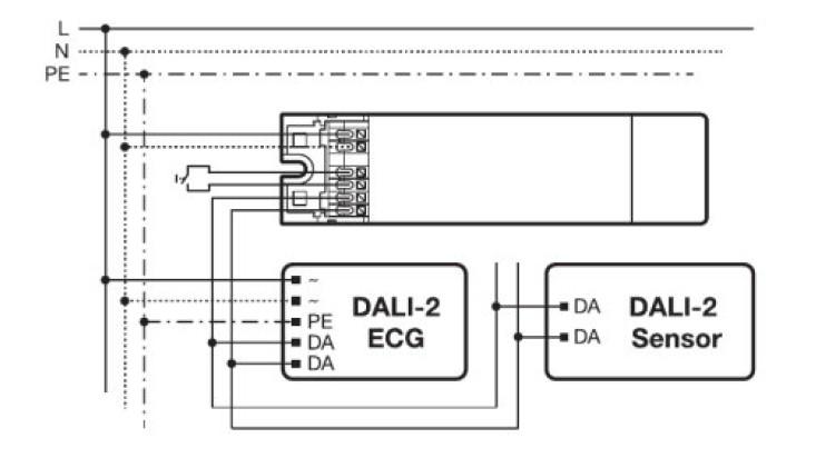 Cablage du convertisseur QBM DALI pour Hubsense