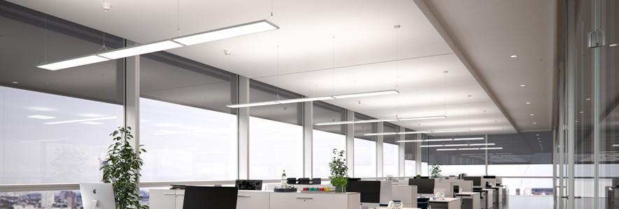 eclairage des bureaux et des espaces de travail. Black Bedroom Furniture Sets. Home Design Ideas