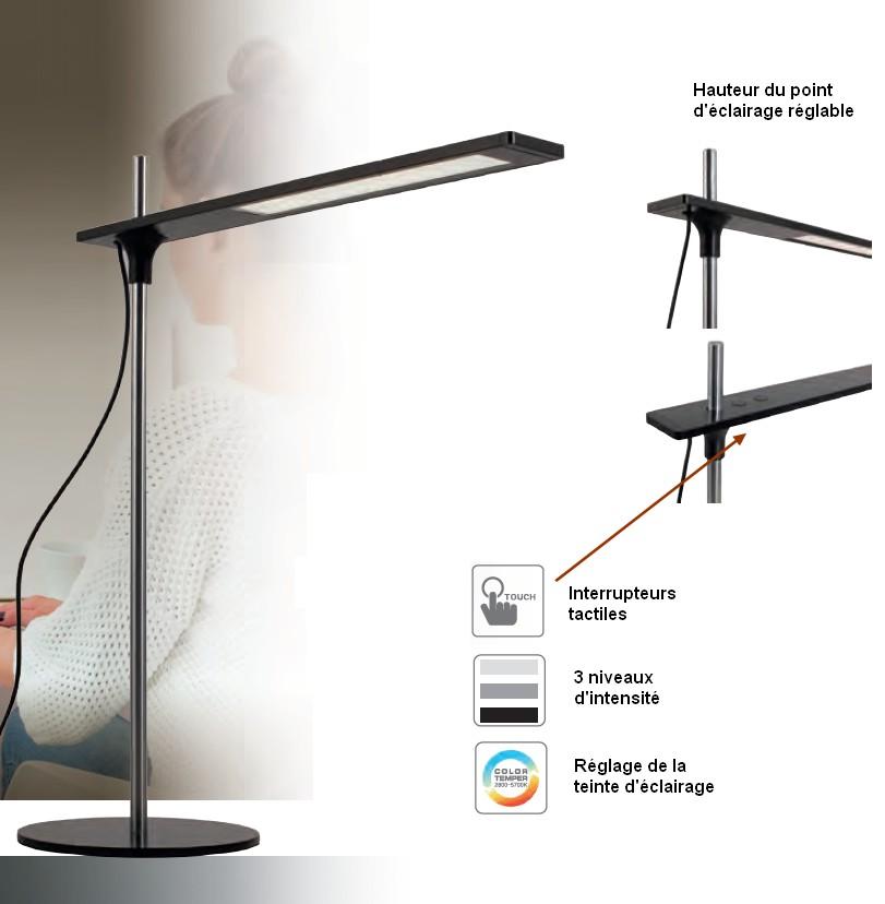 Kure Poste Travail Réglable Pour Lampe De Led Bureau UzMVjGLqSp